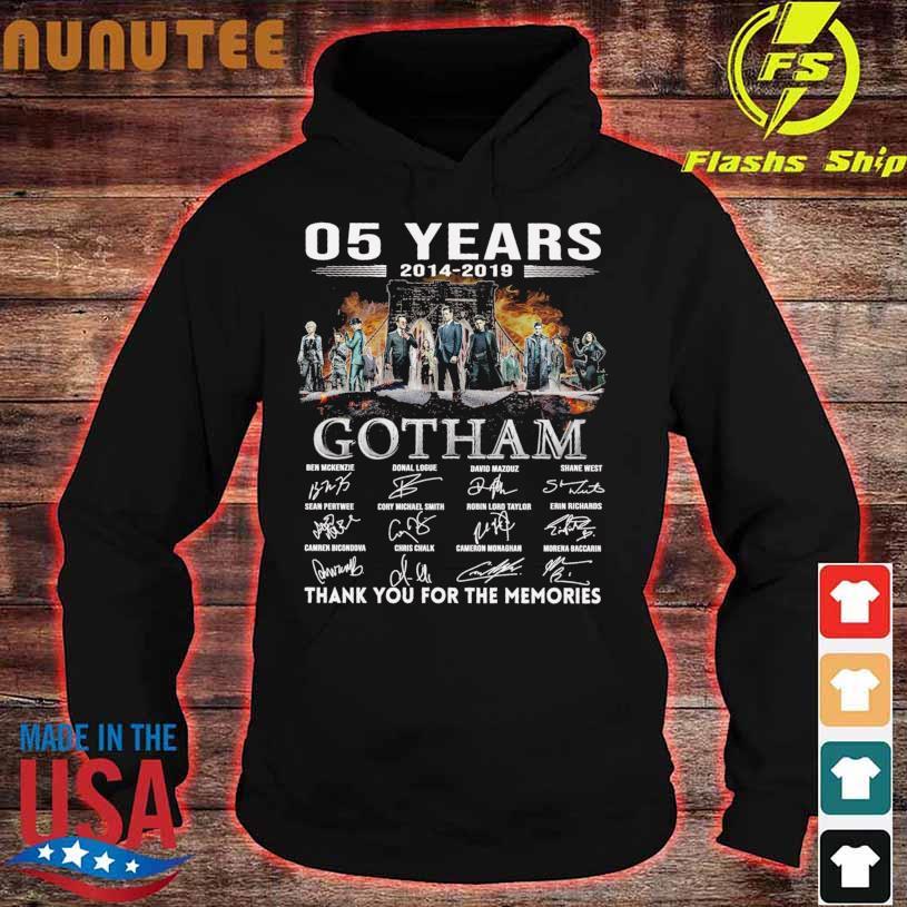 05 Years 2014 2019 Gotham Ben Mckenzie Donal Logue signatures s hoodie