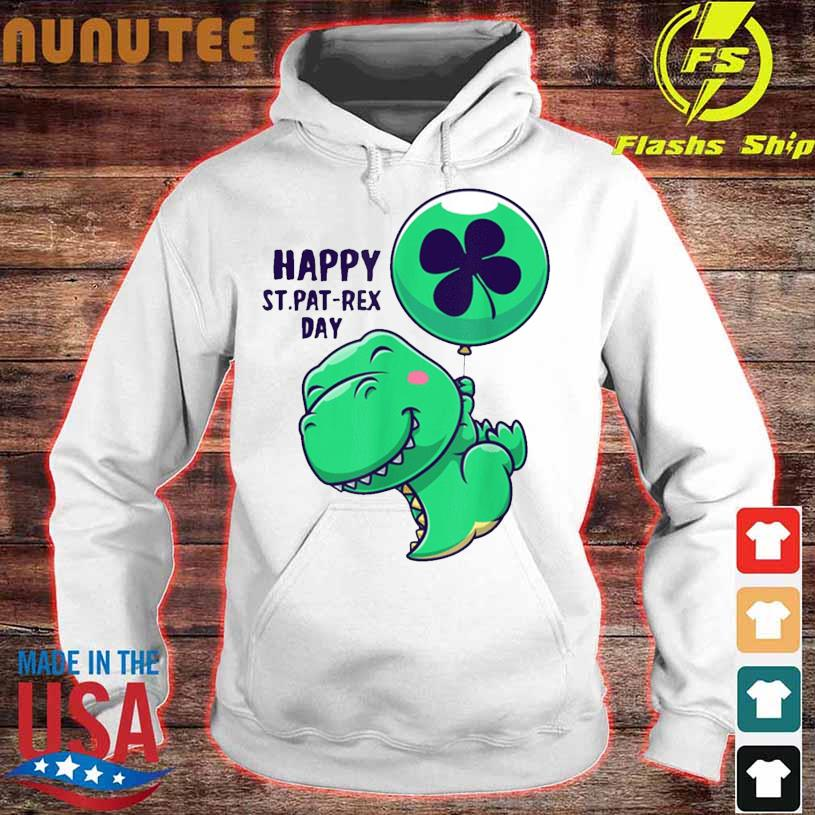 Funny Saint Patrick Day Flying Dinosaur With Balloon Shirt hoodie