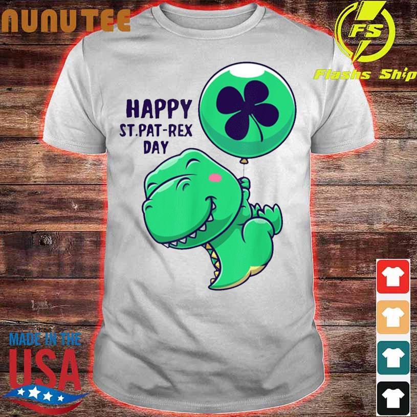 Funny Saint Patrick Day Flying Dinosaur With Balloon Shirt