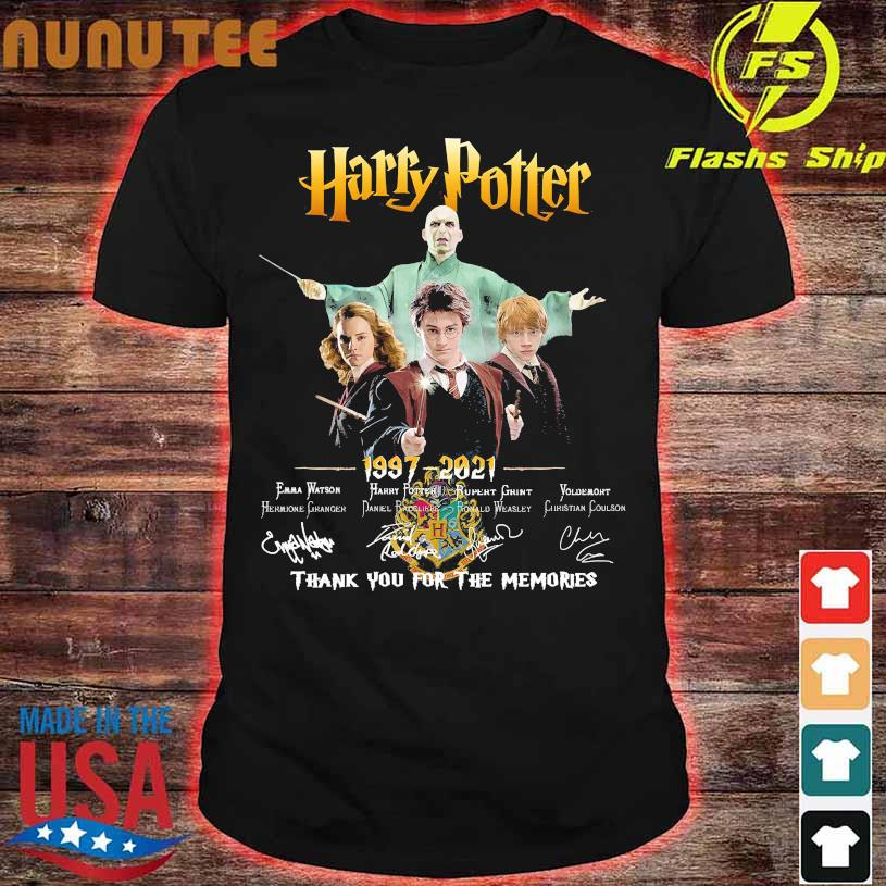 Harry Potter 1997 2021 thank You for the memories signatures shirt