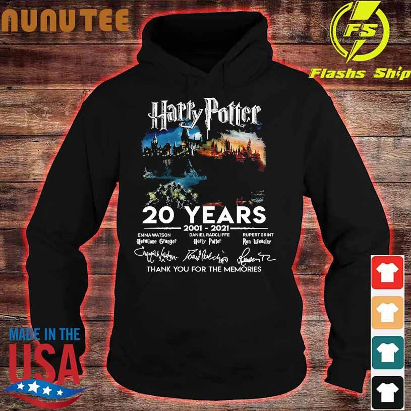 Harry Potter 20 Years 2001 2021 thank You for the memories signatures hoodie