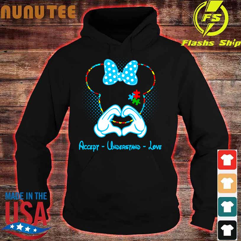 Mickey Mouse accept understand love hoodie