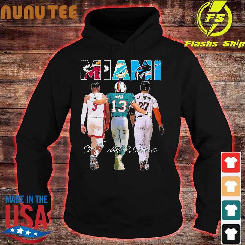Miami 3 Wade 13 Marino 27 Stanton signatures hoodie