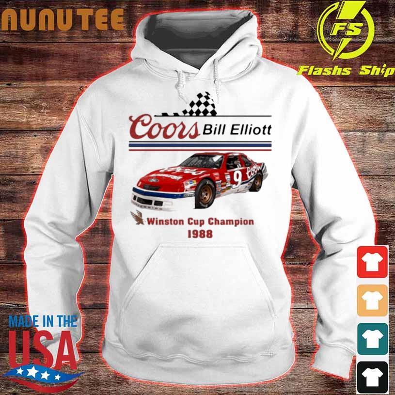 Coors Bill Elliott Winston Cup Champion 1988 Shirt hoodie