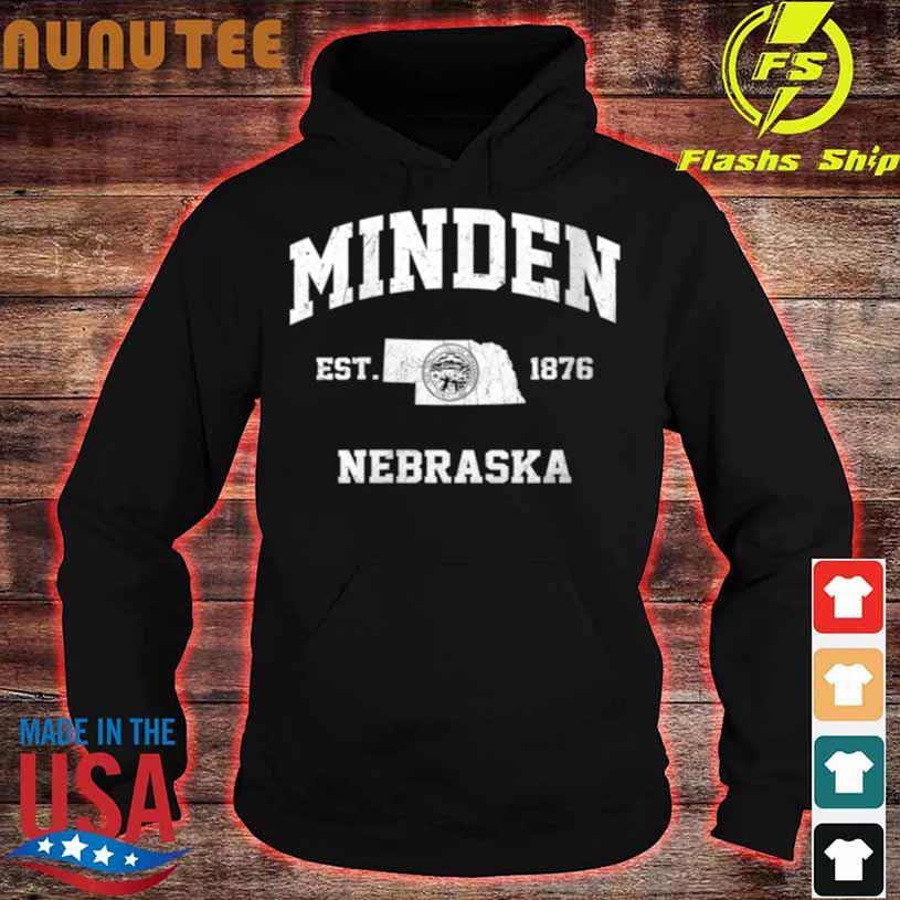 Minden Nebraska Ne Vintage State Athletic Style Shirt hoodie