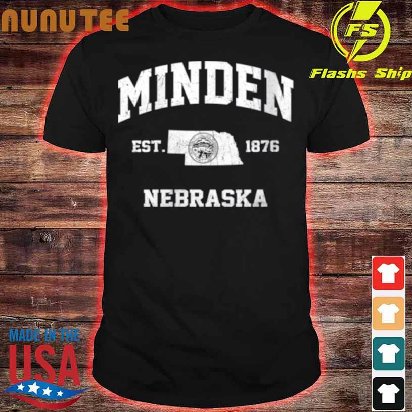 Minden Nebraska Ne Vintage State Athletic Style Shirt
