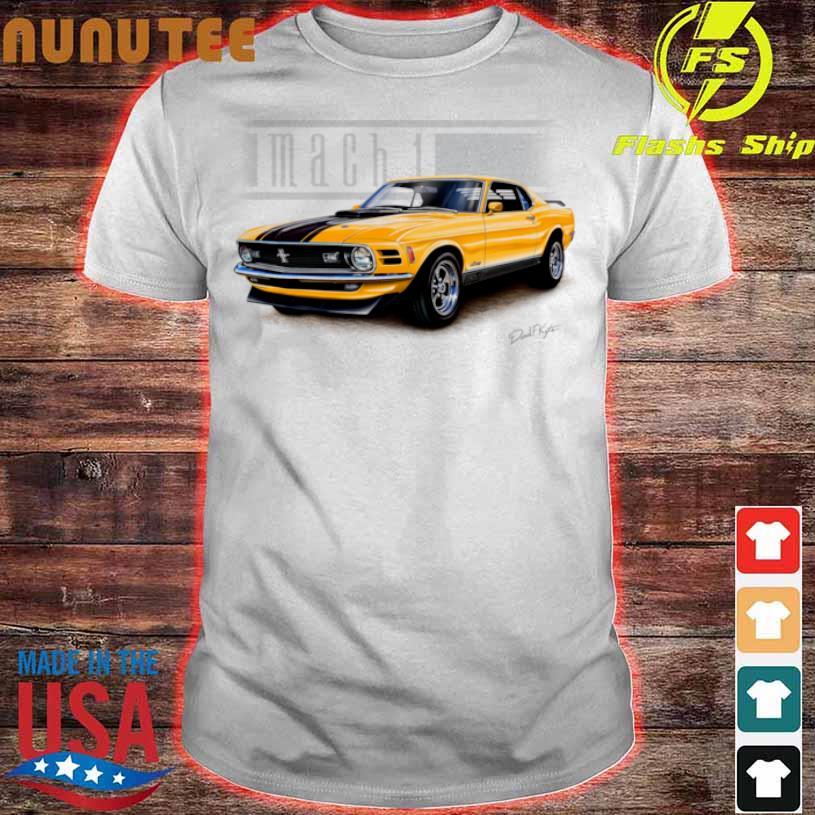 Mustang Mach 1 1970 In Grabber Orange Shirt