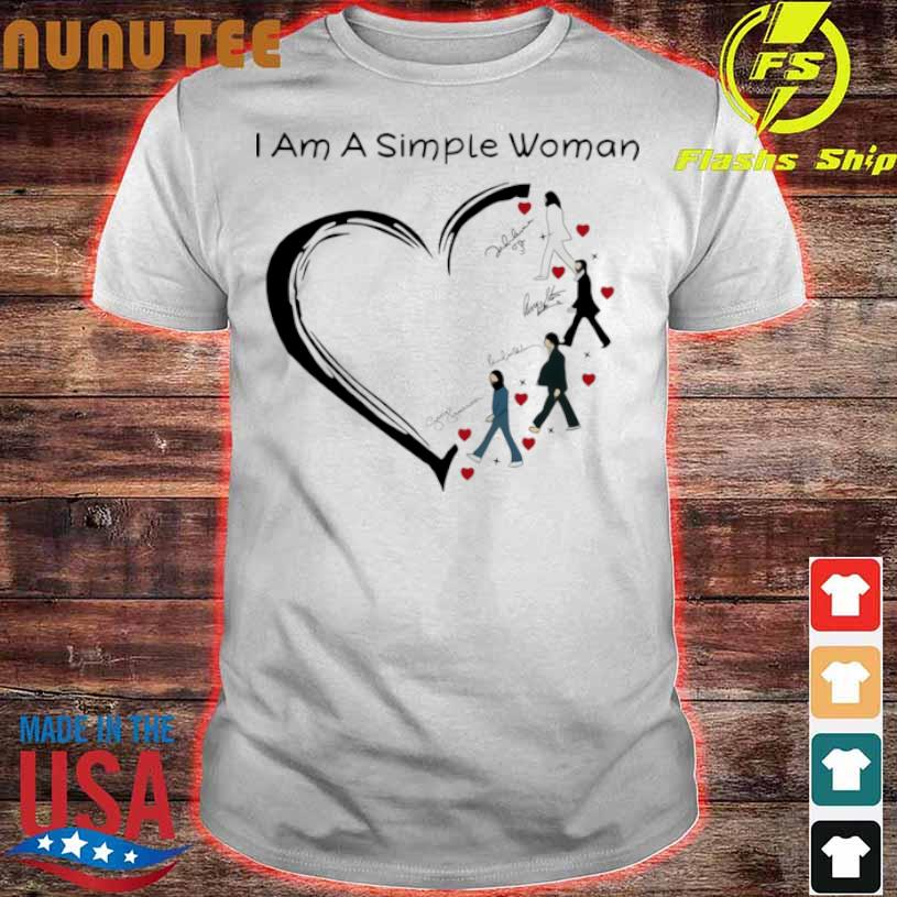 Official I Am A Simple Woman Heart The Beatles Signature Shirt
