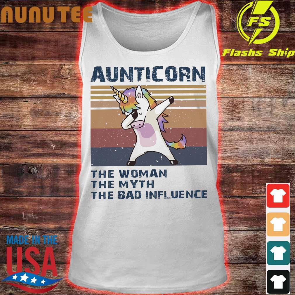 Aunticorn the Woman the myth the bad influence vintage Shirt tank top