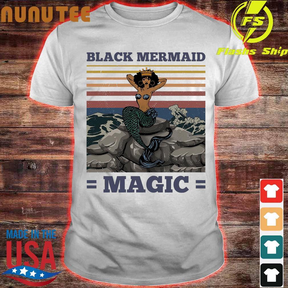 Black mermaid magic vintage Shirt