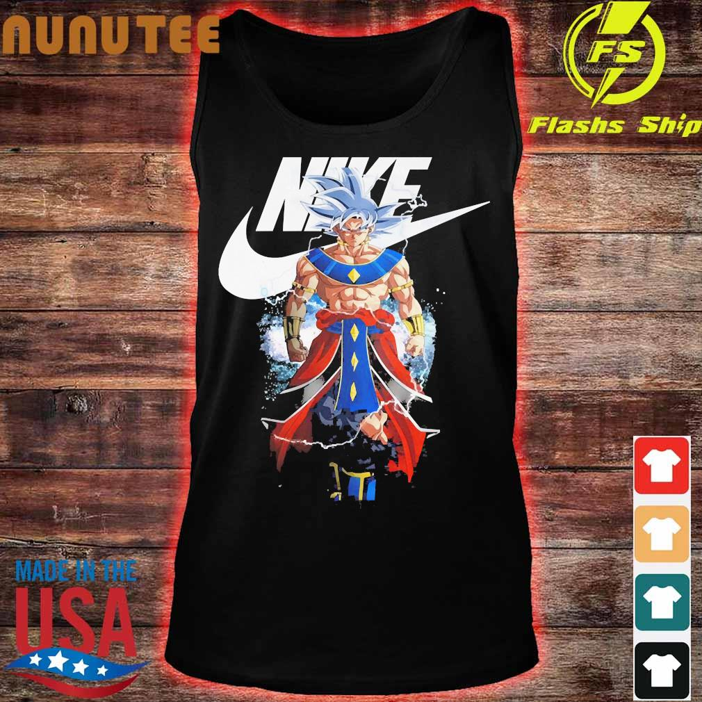 Dragon Ball 7 Songoku Nike logo s tank top