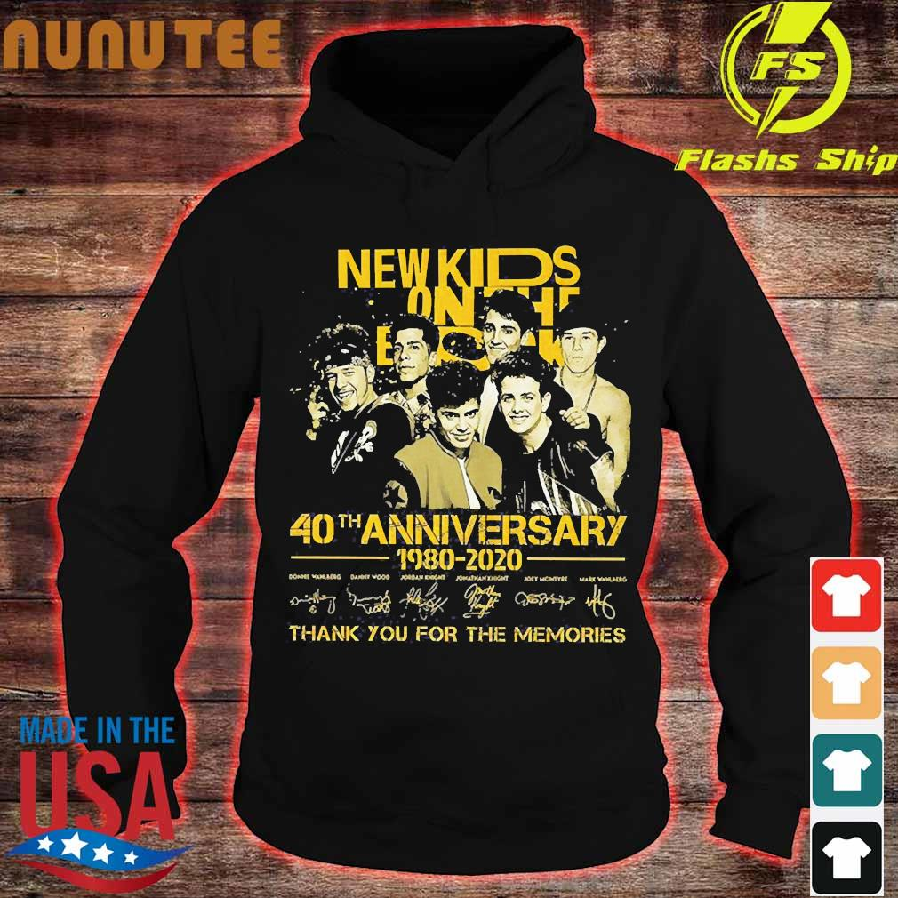 New Kids On The Block 40th anniversary 1980 2020 thank You for the memories signatures Shirt hoodie