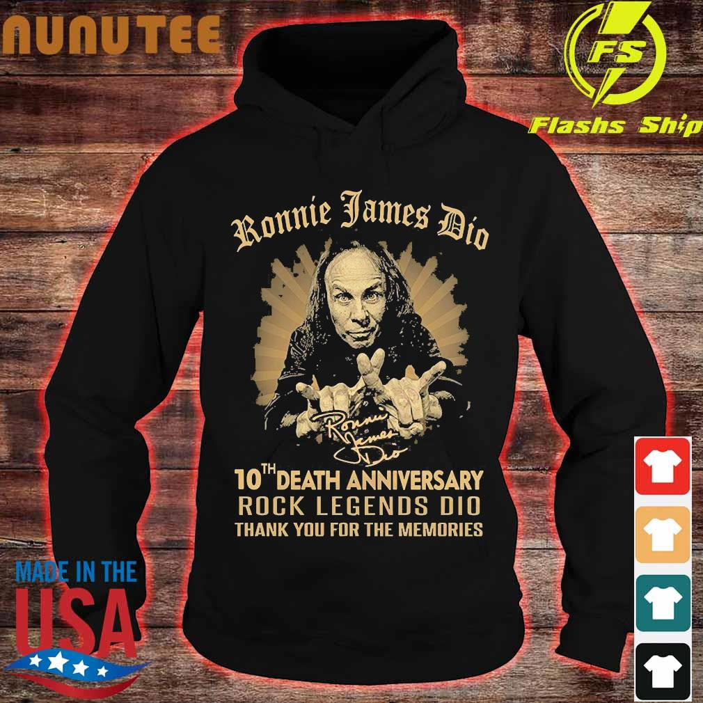 Ronnie James Dio 10th death anniversary rock legends DIO thank You for the memories signature Shirt hoodie