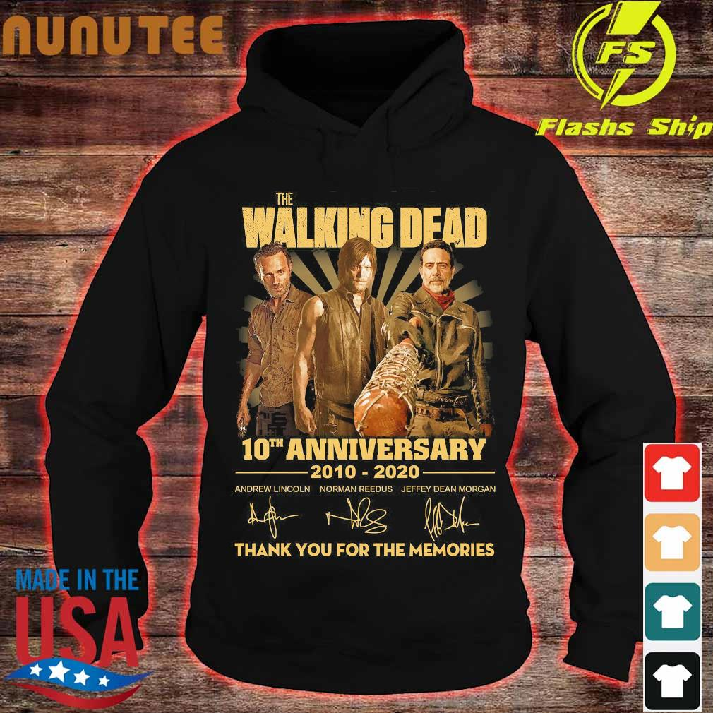 The Walking Dead 10th anniversary 2010 2020 thank You for the memories signatures Shirt hoodie