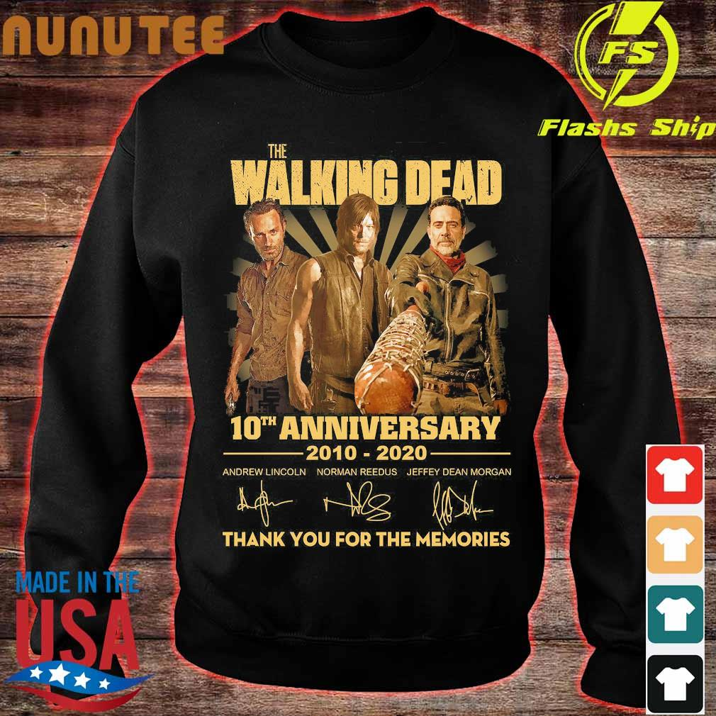 The Walking Dead 10th anniversary 2010 2020 thank You for the memories signatures Shirt sweater