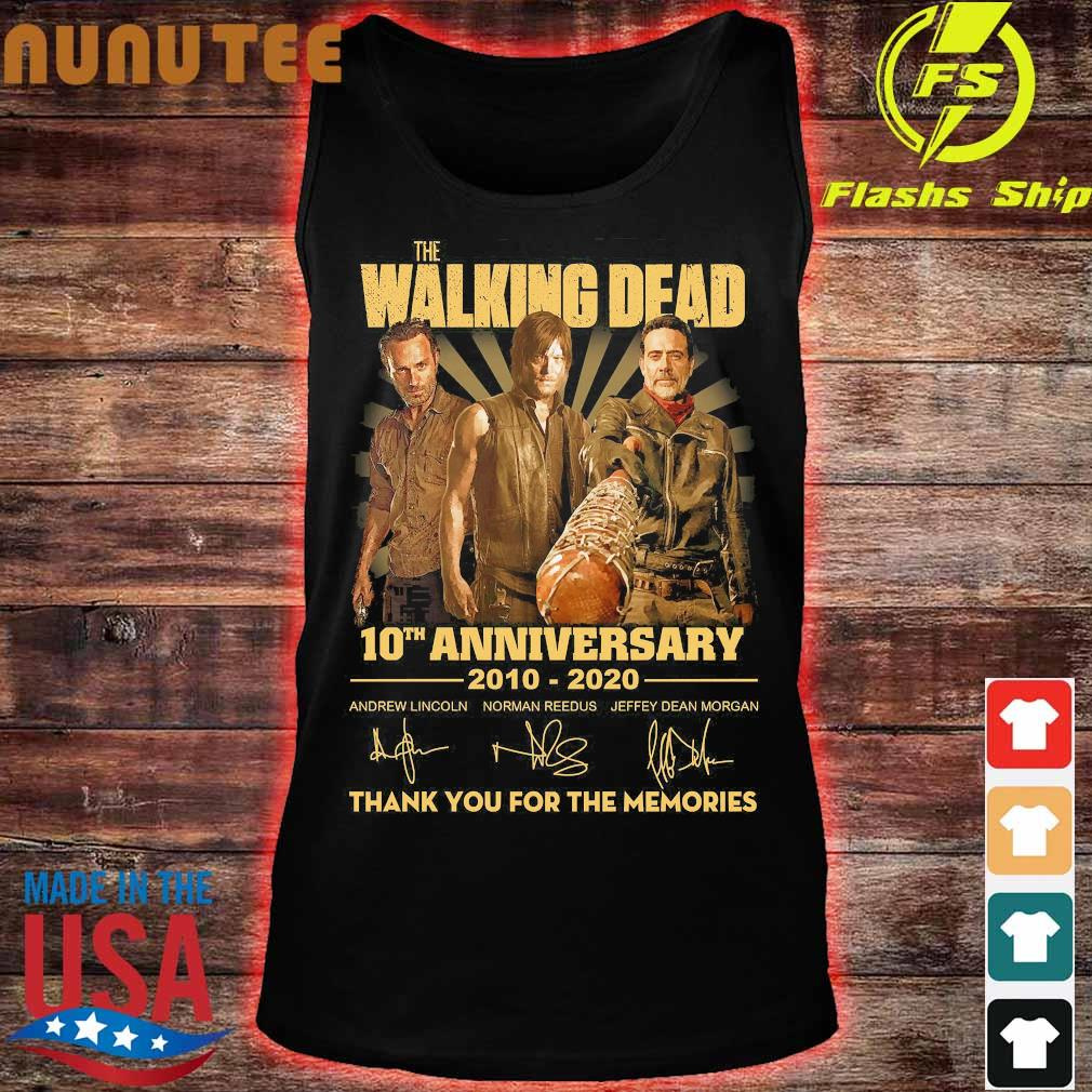 The Walking Dead 10th anniversary 2010 2020 thank You for the memories signatures Shirt tank top