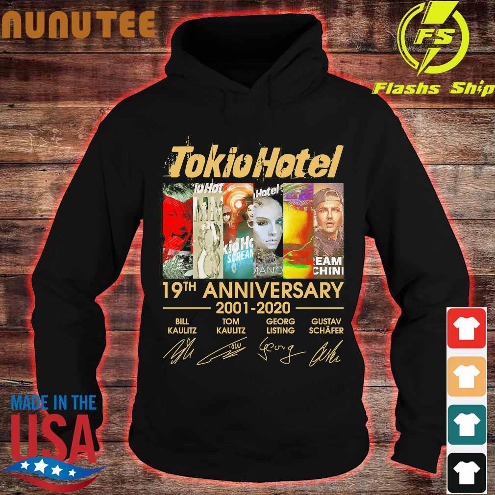 Tokio Hotel 19th anniversary 2001 2020 signatures Shirt hoodie