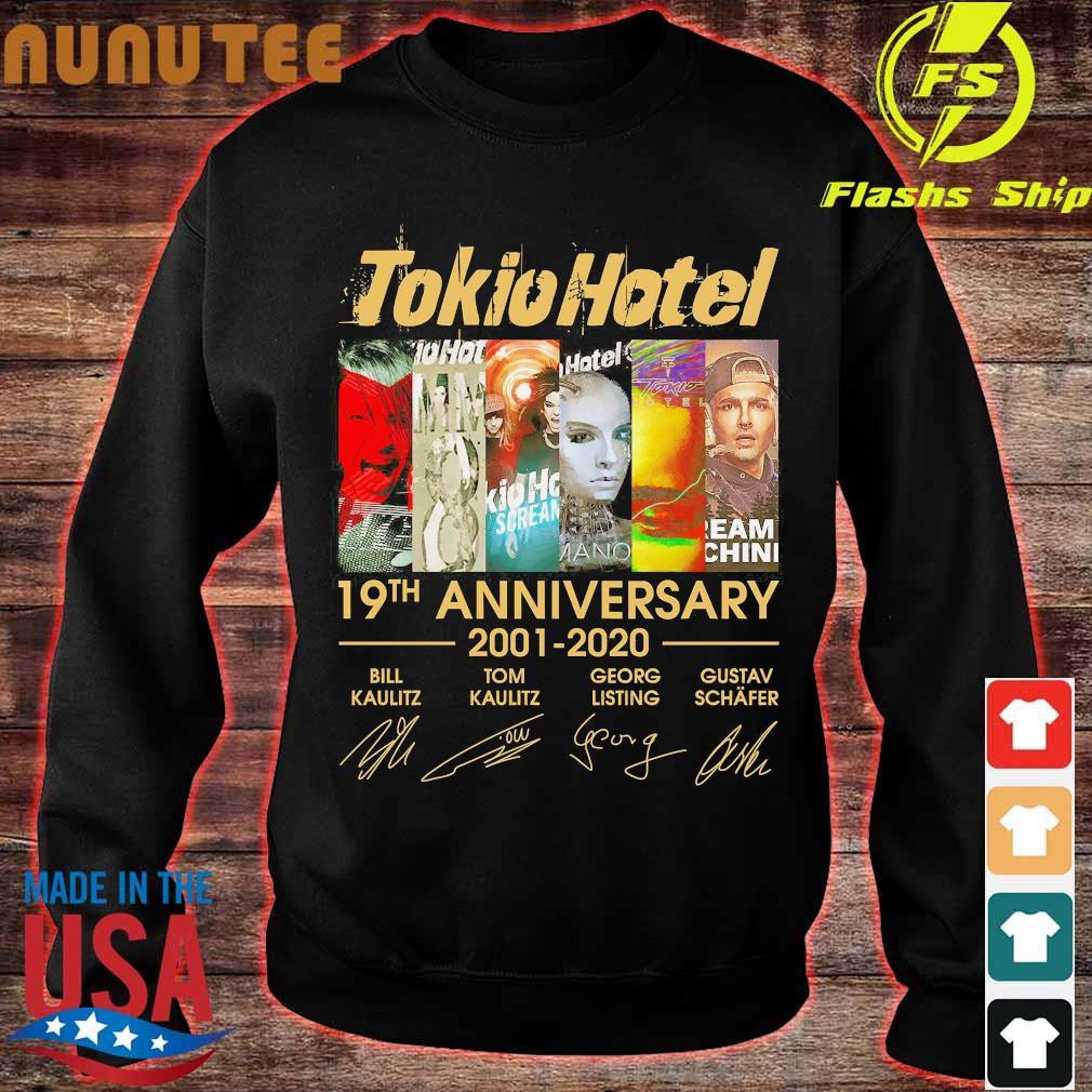 Tokio Hotel 19th anniversary 2001 2020 signatures Shirt sweater