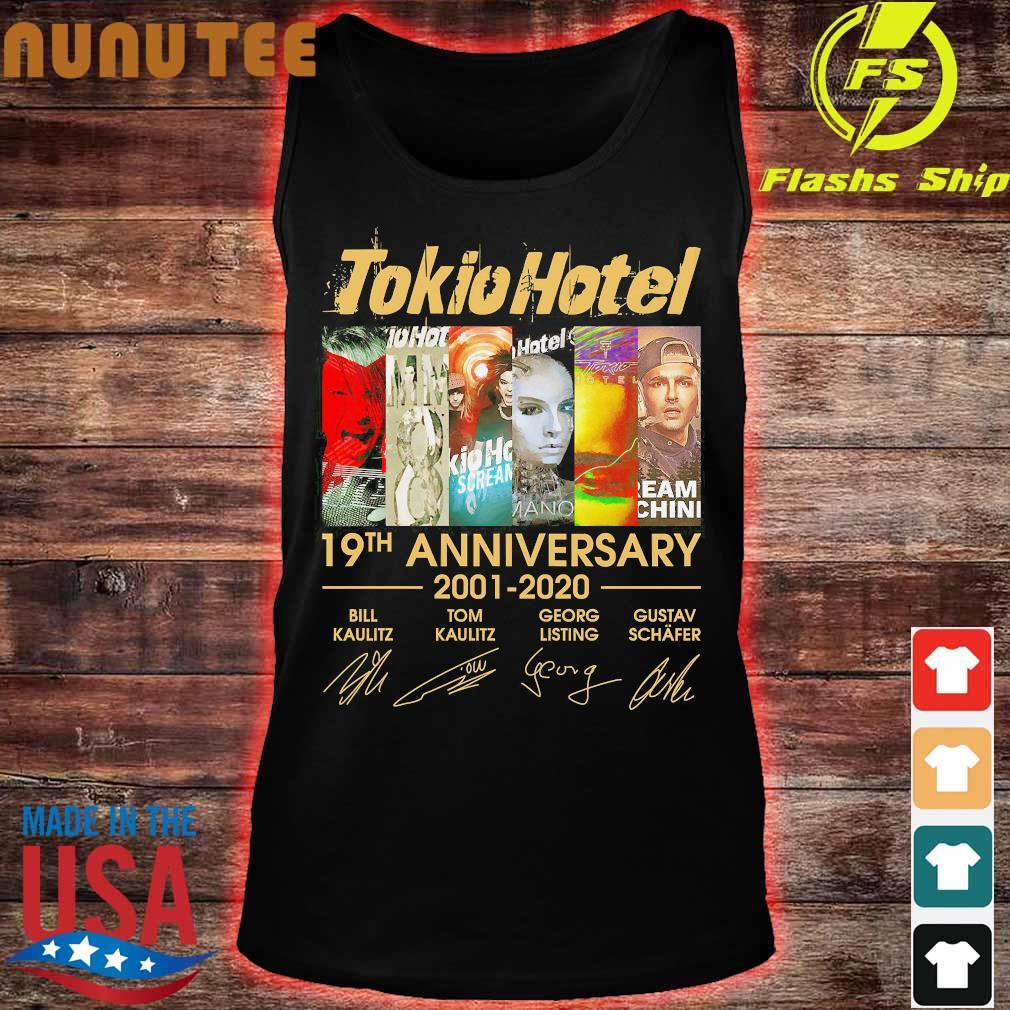 Tokio Hotel 19th anniversary 2001 2020 signatures Shirt tank top