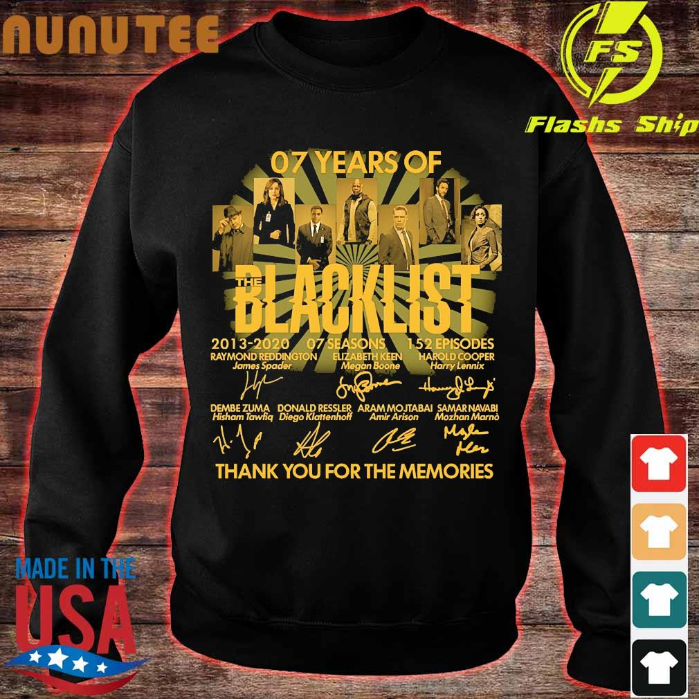 07 Years of the Blacklist 2013 2020 07 seasons 152 episodes thank You for the memories signatures s sweater
