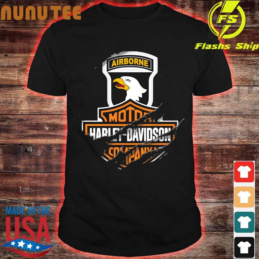 101st Airborne Division Motor Harley Davidson Cycles shirt