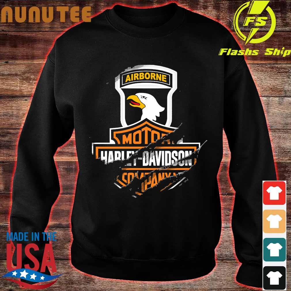 101st Airborne Division Motor Harley Davidson Cycles s sweater
