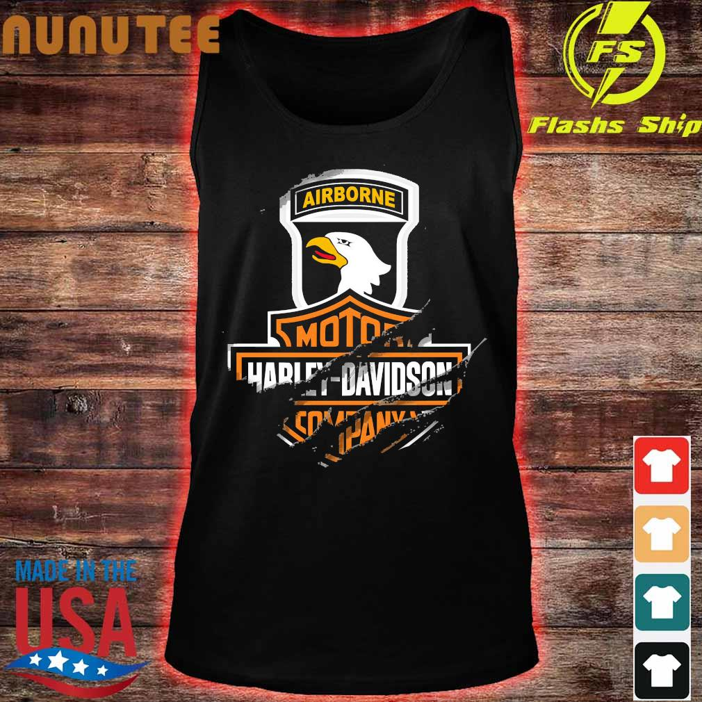 101st Airborne Division Motor Harley Davidson Cycles s tank top