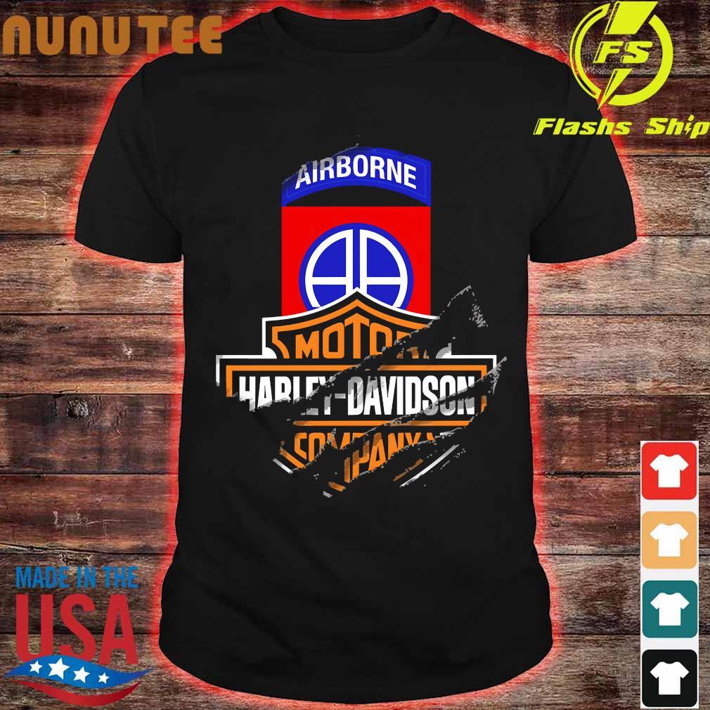 82nd Airborne Division Motor Harley Davidson Cycles shirt