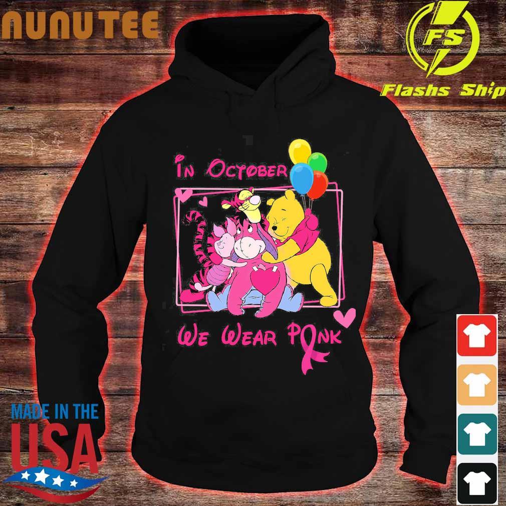 Disney characters in october We wear pink s hoodie