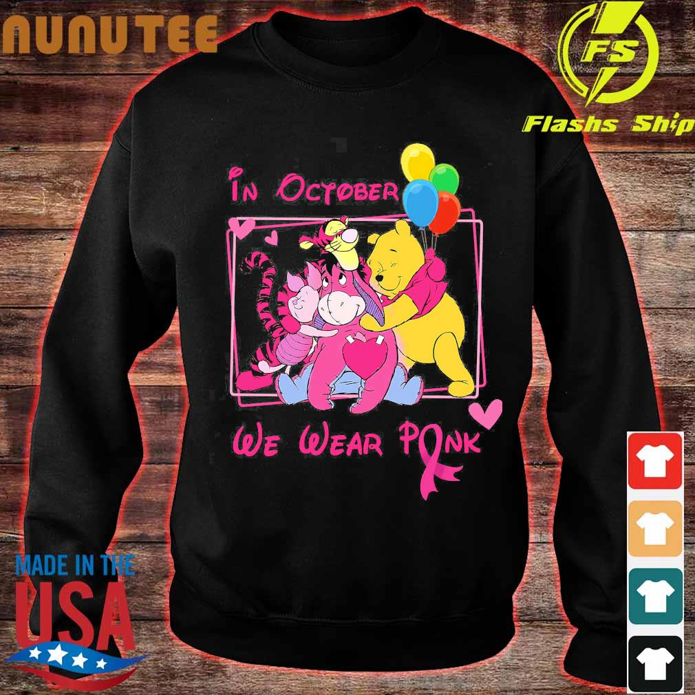 Disney characters in october We wear pink s sweater