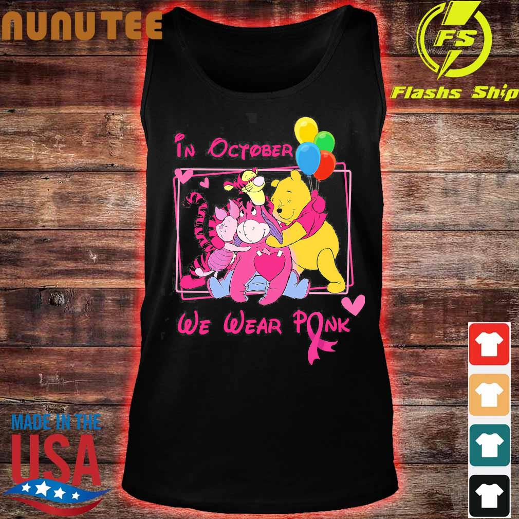 Disney characters in october We wear pink s tank top
