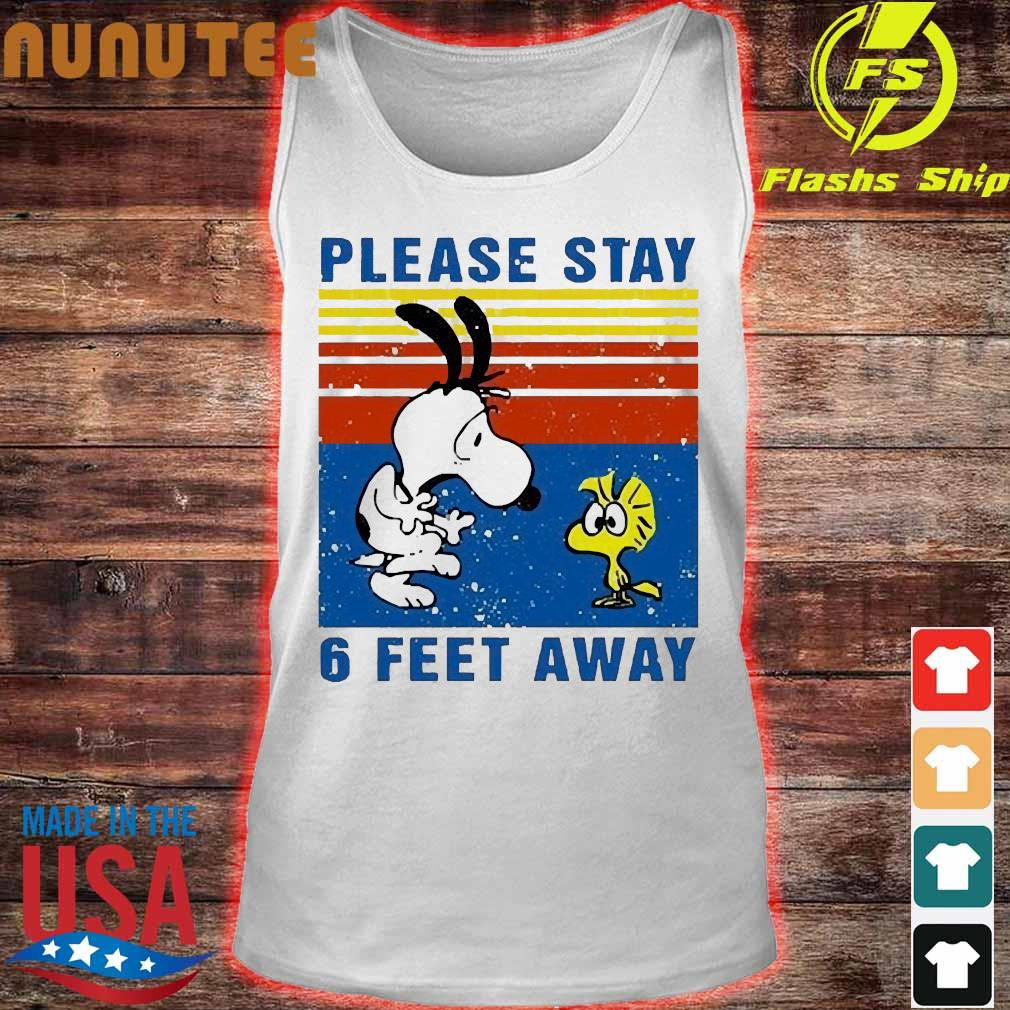 Snoopy and Woodstock please stay 6 feet away vintage s tank top