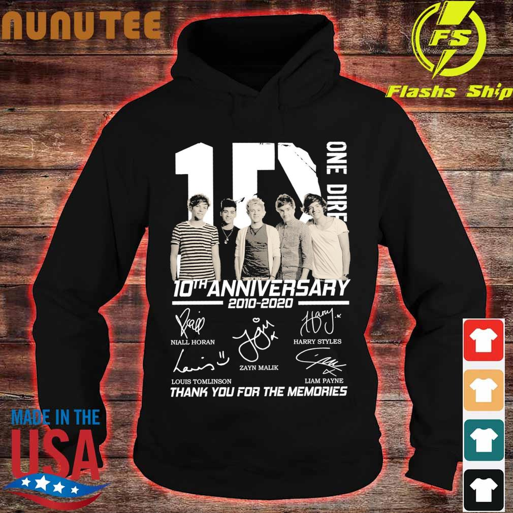 1D One Direction 10TH Anniversary 2010 2020 signatures s hoodie