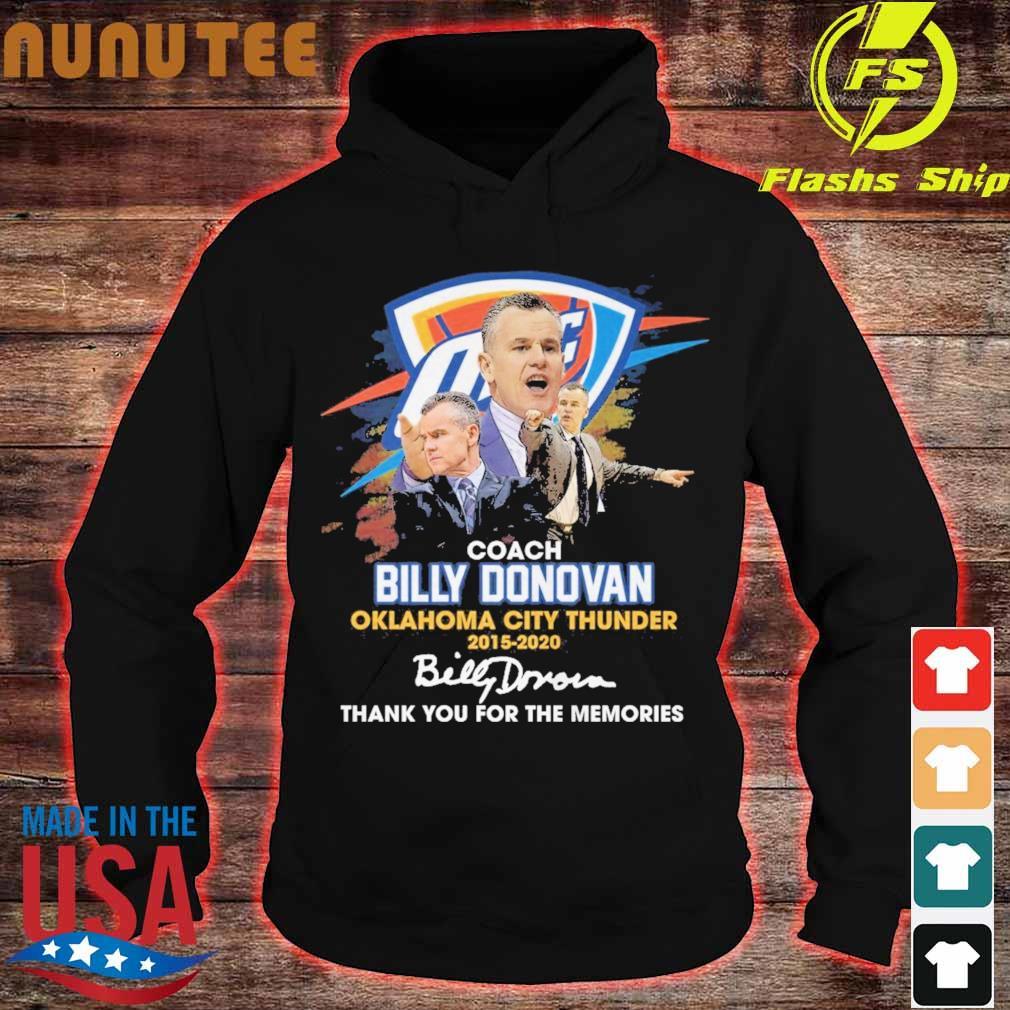 Coach Billy Donovan Oklahoma city Thunder 2015 2020 signatures s hoodie