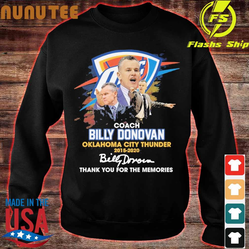 Coach Billy Donovan Oklahoma city Thunder 2015 2020 signatures s sweater
