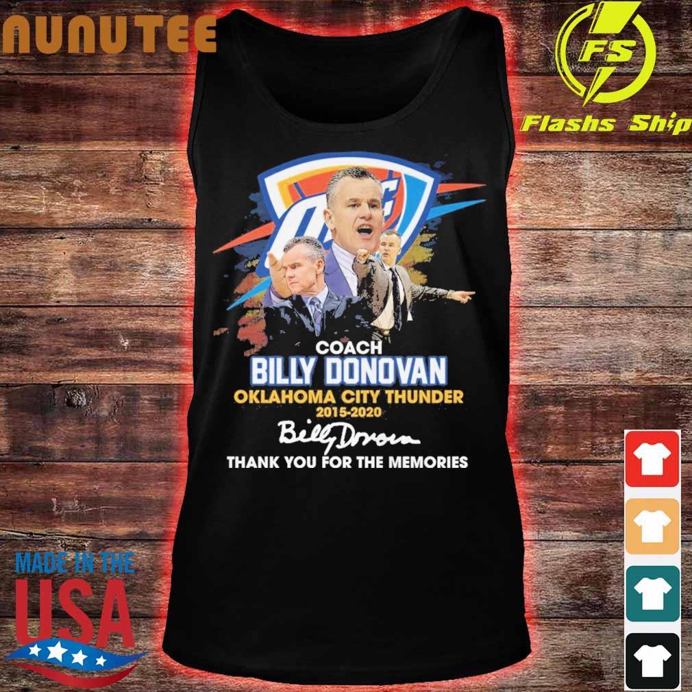 Coach Billy Donovan Oklahoma city Thunder 2015 2020 signatures s tank top