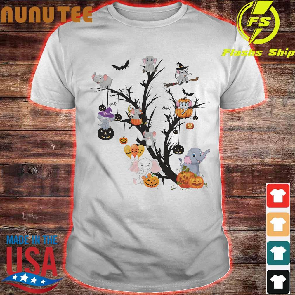 Elephant halloween tree shirt