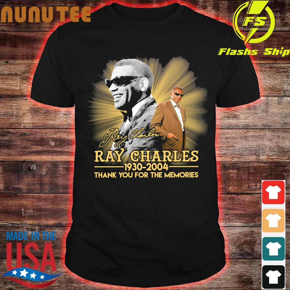 Ray Charles 1930 2004 thank You for the memories signature shirt