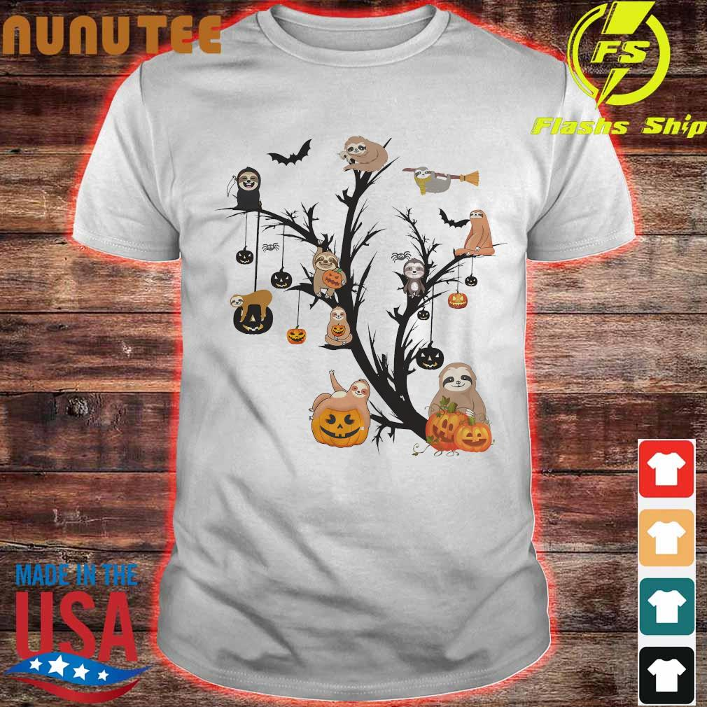 Sloth halloween tree shirt