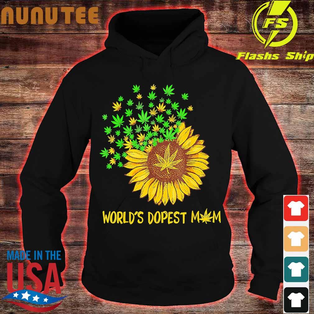 World's dopest mom Sunflower weed s hoodie