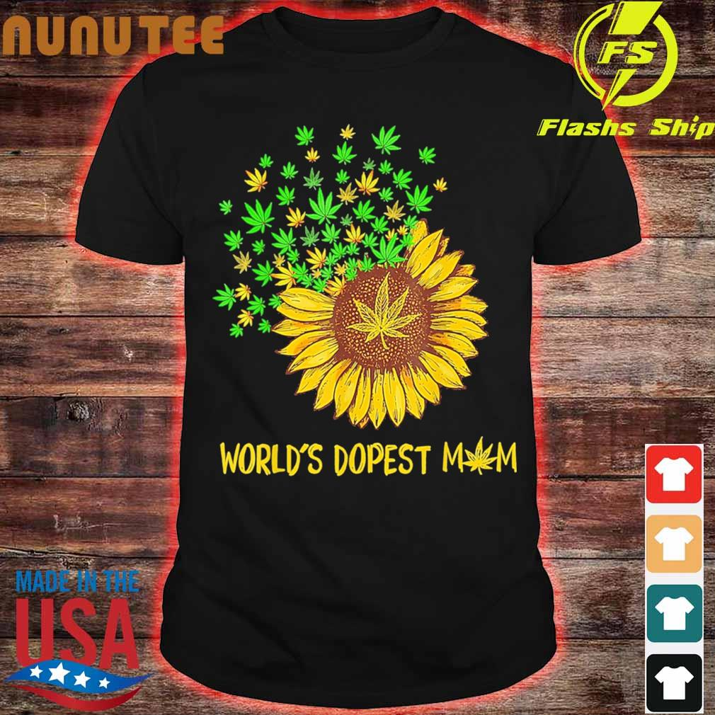 World's dopest mom Sunflower weed shirt