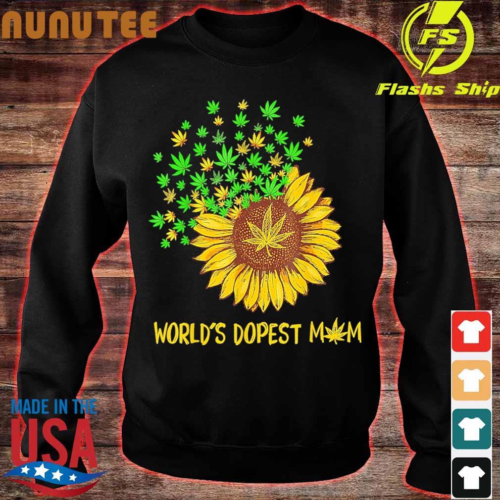 World's dopest mom Sunflower weed s sweater