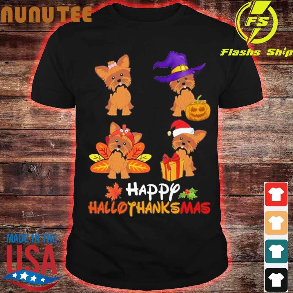 Yorkshire Terrier Happy Hallothanksmas shirt