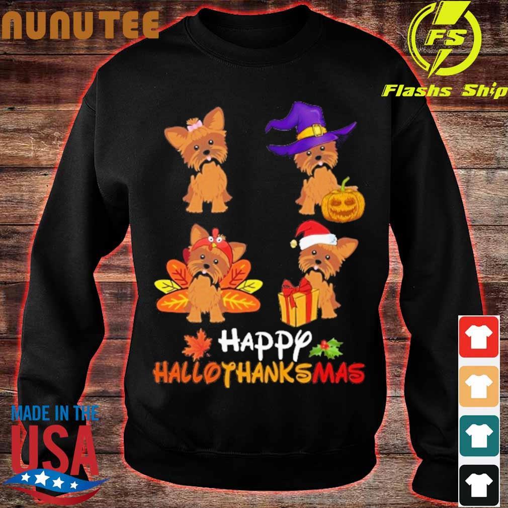 Yorkshire Terrier Happy Hallothanksmas s sweater