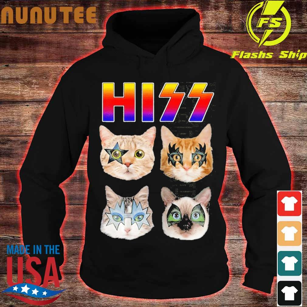 Hiss Funny Cats Kittens Rock Rockin Shirt hoodie