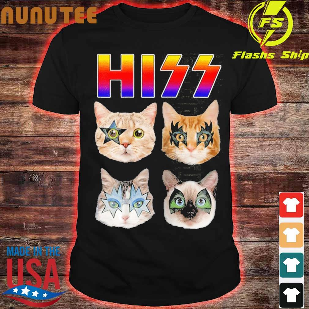 Hiss Funny Cats Kittens Rock Rockin Shirt
