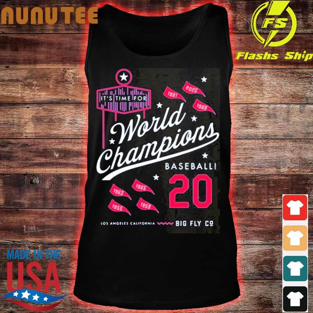 It's Time For World Champions Baseball 2020 Los Angeles California Shirt tank top