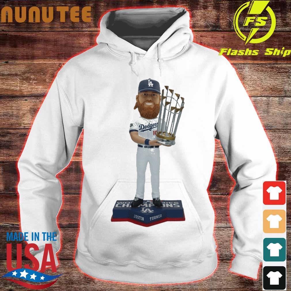 Justin Turner Los Angeles Dodgers 2020 World Series Champions Bobblehead Shirt hoodie