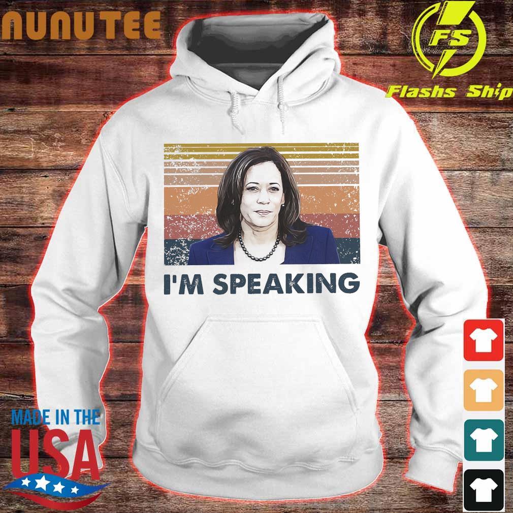 Kamala Harris I'm speaking vintage s hoodie