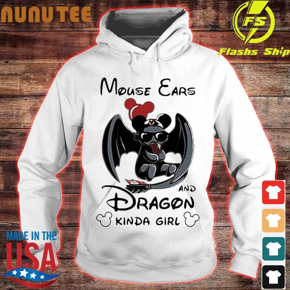 Mickey Mouse Ears And Dragon Kinda Girl Shirt hoodie